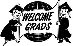 Welcome Grads Stock Photography