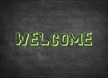 Welcome greeting wood color children letters plastic stock images