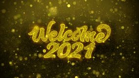Welcome 2021 wishes greetings card, invitation, celebration firework vector illustration