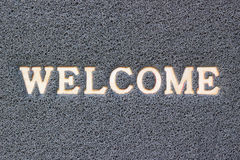 welcome grey vinyl carpet Stock Images