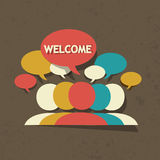 Welcome group Stock Photography