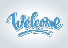 Welcome hand drawn lettering Stock Photo
