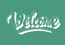 Welcome hand drawn lettering Royalty Free Stock Image