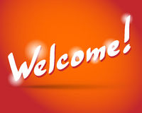 WELCOME hand lettering Stock Images