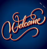 WELCOME hand lettering (vector) vector illustration