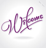 WELCOME hand lettering (vector) royalty free illustration
