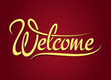 Welcome hand lettering sign Stock Images
