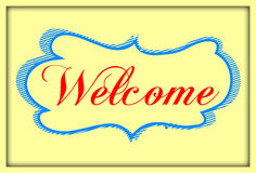 WELCOME hand lettering () Stock Photos