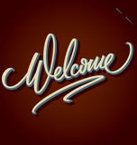 Welcome hand lettering (vector) stock illustration