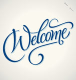 WELCOME hand lettering (vector) Royalty Free Stock Photography