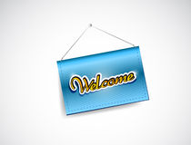 Welcome hanging banner illustration Stock Photography