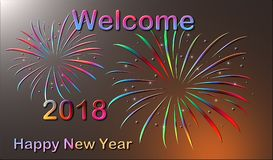 Welcome 2018 - Happy New Year royalty free illustration