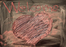 Welcome and Heart Royalty Free Stock Image