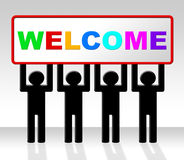 Welcome Hello Means How Are You And Arrival Royalty Free Stock Photo