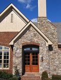 Welcome Home. A brick and stone entrance to a beautiful new construction home Royalty Free Stock Image