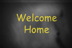 Welcome home chalkboard Stock Photos