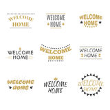 Welcome home collection. Set of labels, emblems, stickers or bad Stock Image