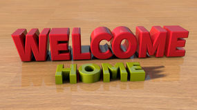 Welcome home vector illustration