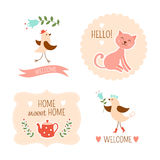 Welcome home decorative elements Stock Images