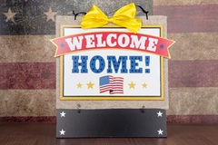Welcome Home. A decorative sign to welcome home a solider royalty free stock photo