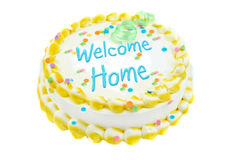 Welcome home festive cake Royalty Free Stock Images