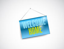 Welcome home hanging banner illustration Royalty Free Stock Image