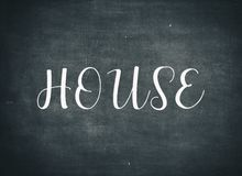 Welcome home house building live family children letters stock images