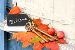 Welcome at home Stock Photo