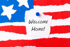 Welcome Home Note Royalty Free Stock Photography