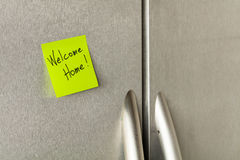 Welcome home note Royalty Free Stock Images