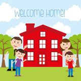 Welcome home stock illustration