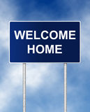 Welcome Home. The road sign symbol with text Welcome Home Stock Images