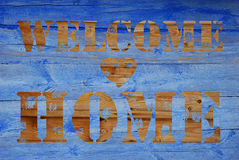 Welcome  home wooden background Royalty Free Stock Images