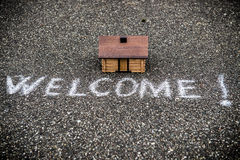 Welcome house concept Stock Photo