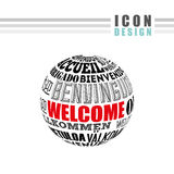 welcome icon design Stock Images