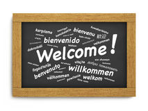 Welcome International Chalkboard Royalty Free Stock Photography