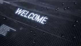 Welcome intro text animation reveal