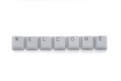 Free WELCOME Keyboard Buttons Stock Photography - 7796842
