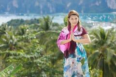 Welcome in ko phi phi island Stock Image