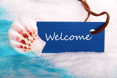 Welcome Label Royalty Free Stock Photo