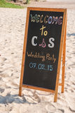 Welcome label for wedding ceremony Stock Images