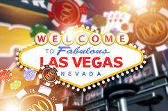 Welcome in Las Vegas Concept Royalty Free Stock Photography