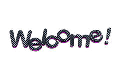 Welcome lettering. A welcome banner made of rubber letters Stock Photo