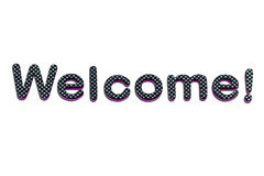 Welcome lettering. A welcome banner made of rubber letters Stock Images
