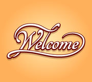 Welcome lettering calligraphy Stock Images