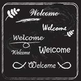 Welcome lettering. Royalty Free Stock Photos