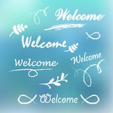 Welcome lettering. Royalty Free Stock Photography