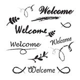 Welcome lettering. Stock Image