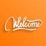 Welcome lettering Greeting Card Royalty Free Stock Photography
