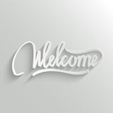 Welcome lettering Greeting Card Stock Photos